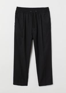 H&M H & M - Twill Joggers - Black
