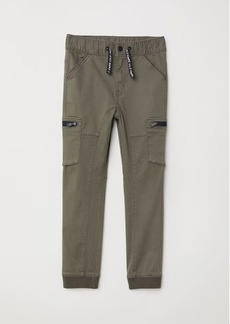 H&M H & M - Twill Joggers - Green