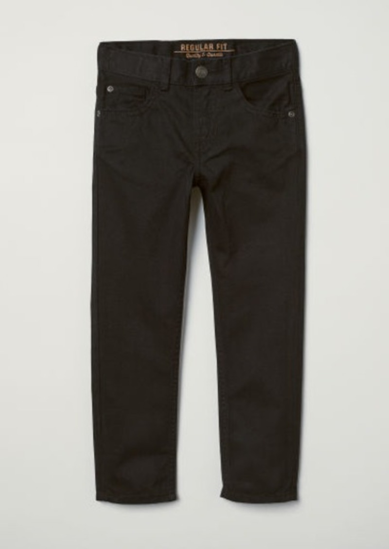 H&M H & M - Twill Pants - Black