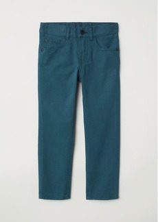 H&M H & M - Twill Pants - Turquoise
