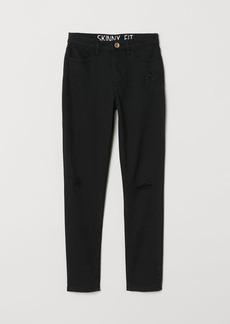 H&M H & M - Twill Pants Skinny Fit - Black