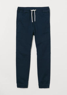 H&M H & M - Twill Pull-on Pants - Blue