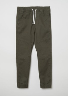 H&M H & M - Twill Pull-on Pants - Green