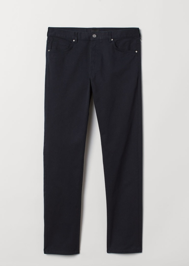 H&M H & M - Slim Fit Twill Pants - Blue