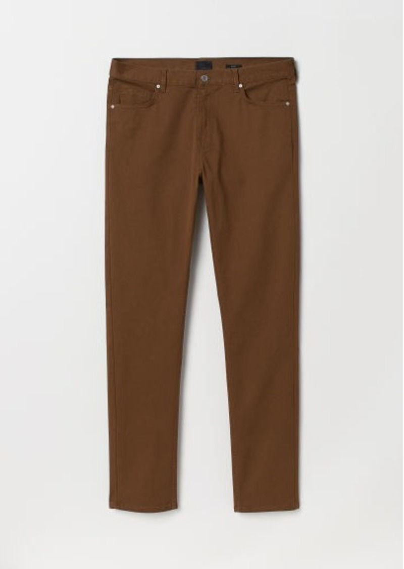 H&M H & M - Slim Fit Twill Pants - Brown