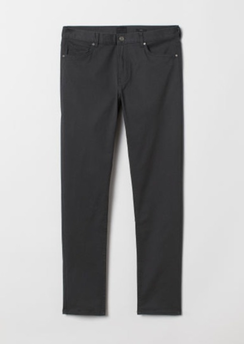 H&M H & M - Slim Fit Twill Pants - Gray