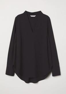 H&M H & M - V-neck Blouse - Black