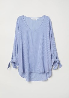 H&M H & M - V-neck Blouse - Blue