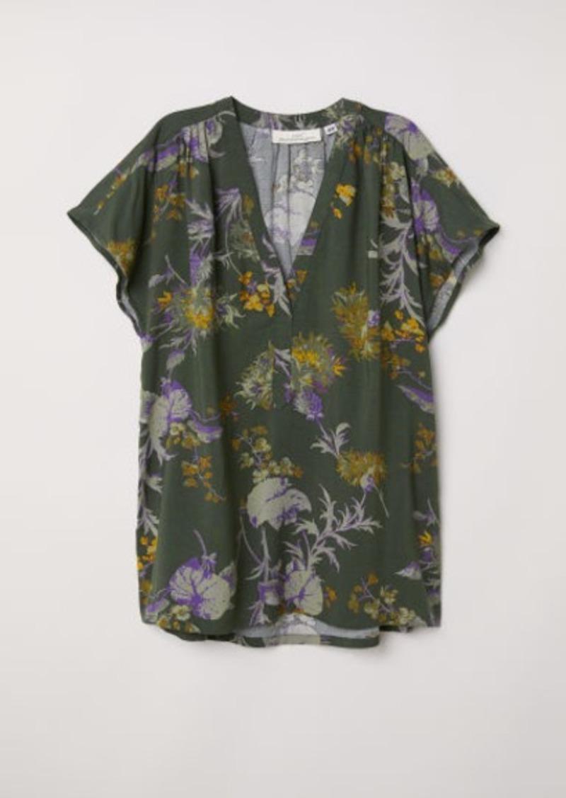 H&M H & M - V-neck Blouse - Green