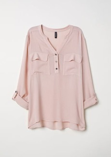 H&M H & M - V-neck Blouse - Pink