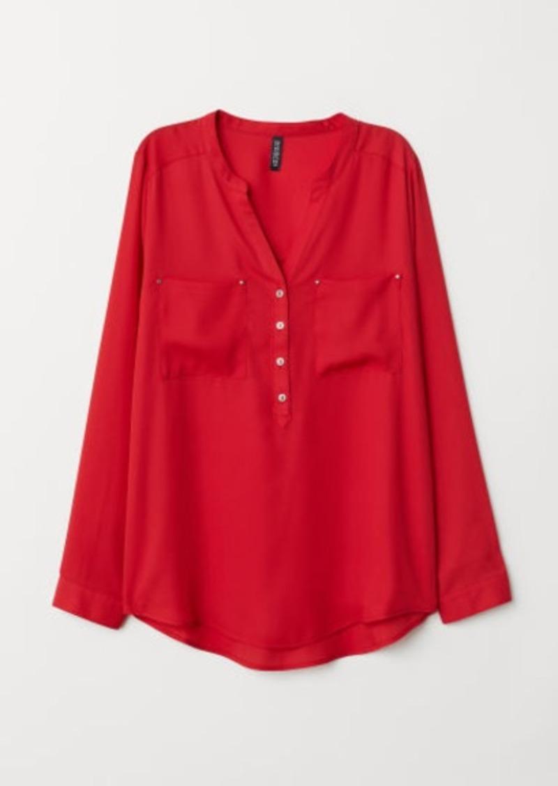 H&M H & M - V-neck Blouse - Red