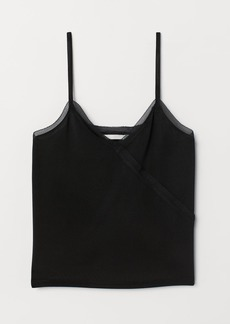 H&M H & M - V-neck Camisole Top - Black