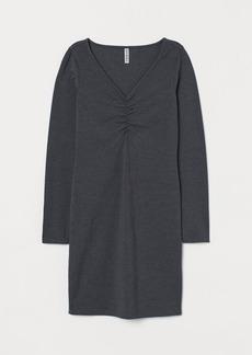 H&M H & M - V-neck Dress - Gray