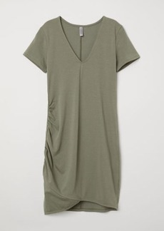H&M H & M - V-neck Jersey Dress - Green