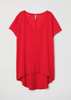H&M H & M - V-neck Jersey Top - Red