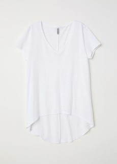 H&M H & M - V-neck Jersey Top - White