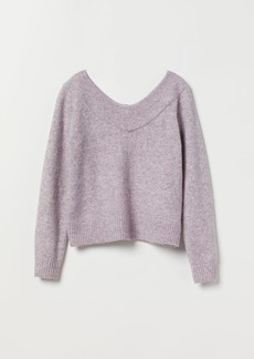 H&M H & M - V-neck Sweater - Purple