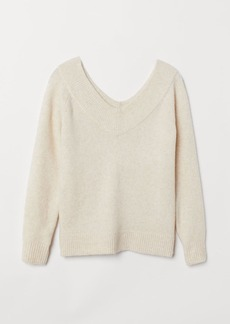 H&M H & M - V-neck Sweater - White