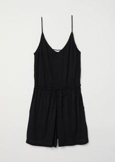 H&M H & M - V-neck Jumpsuit - Black