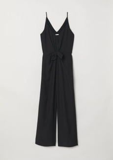 H&M H & M - V-neck Jumpsuit - Black