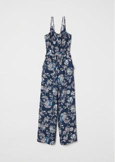 H&M H & M - V-neck Jumpsuit - Blue