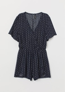 H&M H & M - V-neck Jumpsuit - Blue