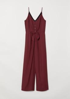 H&M H & M - V-neck Jumpsuit - Red
