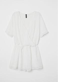 H&M H & M - V-neck Jumpsuit - White