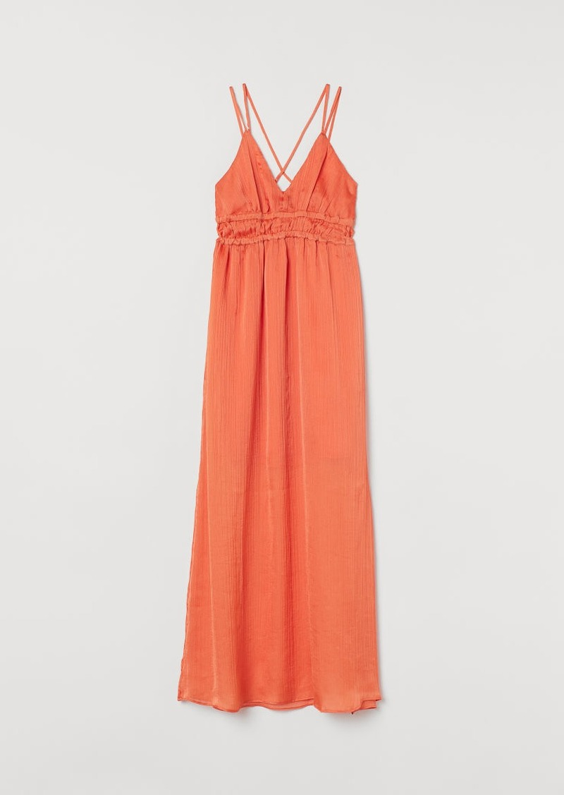 H&M H & M - V-neck Maxi Dress - Orange