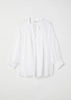 H&M H & M - V-neck Modal Blouse - White