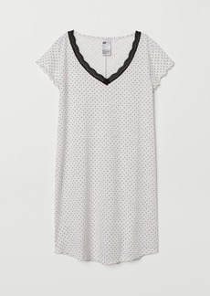 H&M H & M - V-neck Nightgown - Gray
