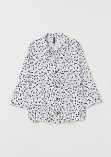 H&M H & M - V-neck Shirt - White