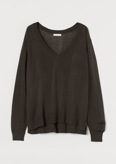 H&M H & M - V-neck Sweater - Beige