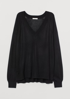 H&M H & M - V-neck Sweater - Black