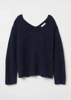 H&M H & M - V-neck Sweater - Blue