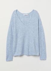 H&M H & M - V-neck Sweater - Blue