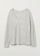 H&M H & M - V-neck Sweater - Gray