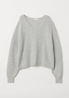 H&M H & M - V-neck Sweater - Gray