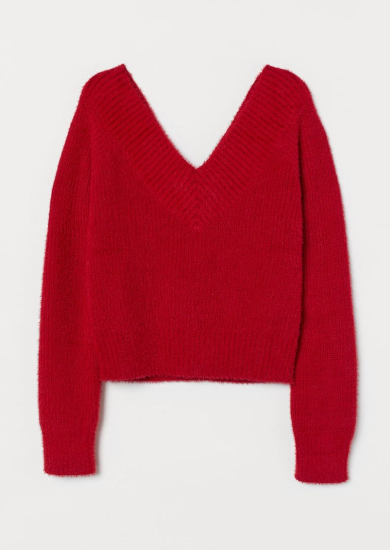 H&M H & M - V-neck Sweater - Red