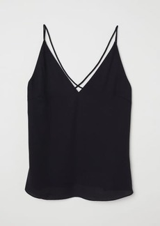 H&M H & M - V-neck Top - Black