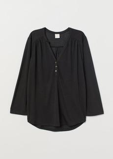 H&M H & M - V-neck Top - Black