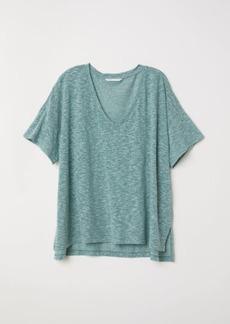 H&M H & M - V-neck Top - Green