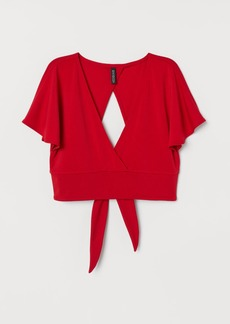 H&M H & M - V-neck Top - Red