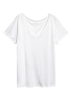 H&M H & M - V-neck Top - White