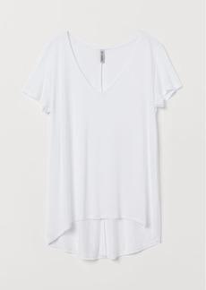 H&M H & M - V-neck Viscose Top - White