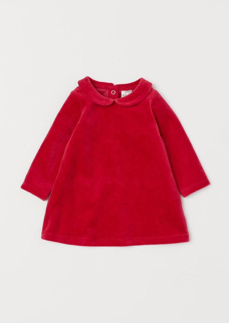H&M H & M - Velour Dress - Red