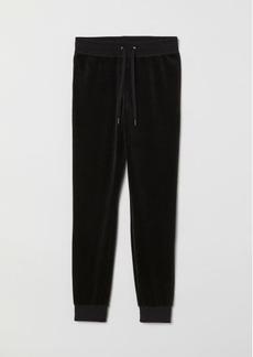 H&M H & M - Velour Joggers - Black
