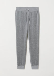 H&M H & M - Velour Joggers - Gray