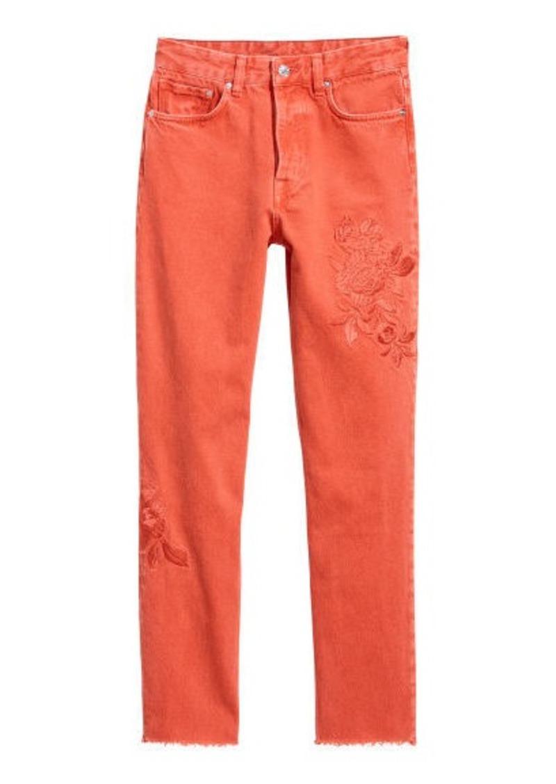 H&M H & M - Vintage High Ankle Jeans - Orange