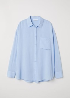 H&M H & M - Viscose-blend Shirt - Blue